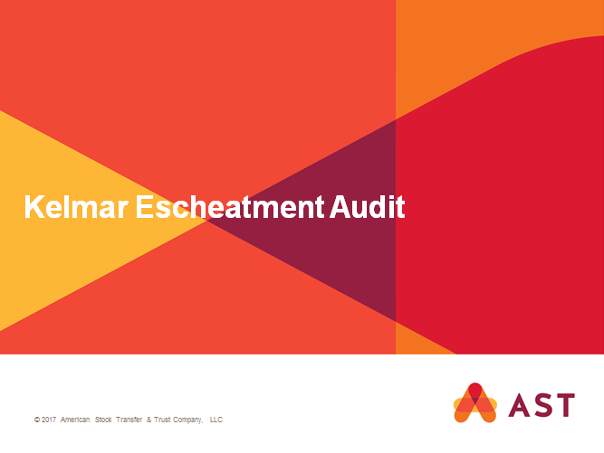Kelmar Escheatment Audit
