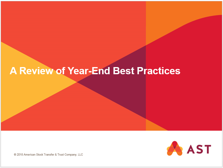 A Review of Year-End Best Practices